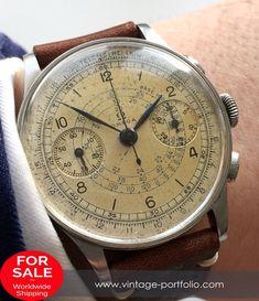 Amazing Omega 33.3 Vintage Chronograph Original Two Tone Dial #watchoftheday#watchesofinstagram #RareWatches #luxurywatches #horology #sothebys   #rarewatch #horology