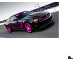 uuuuh no! My opinion, I love pink but this is just silly. Maybe red or blue or even white but not this :( oh how my heart hurts! Pink Mustang, Black Mustang, New Mustang, Mustang Cobra, Ford Mustang Shelby, Ford Mustangs, Cool Sports Cars, Cool Cars, Powered Bicycle