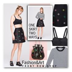 """""""One Skirt Two Ways... Front Row Shop 11.3"""" by pokadoll ❤ liked on Polyvore"""