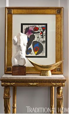 Modern art with antiques