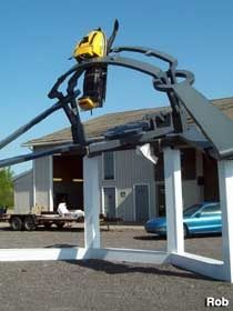 I need one of these around the yard.   A snowmobile trap. Those are so pesky and noisy