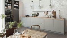 85 Kitchens Decorated with Pills - Photos and Applications - Home Fashion Trend Apartment Kitchen, Kitchen Interior, Kitchen Decor, Modern Outdoor Kitchen, Scandinavian Kitchen, Küchen Design, Dining Room Table, Home Kitchens, Kitchen Remodel