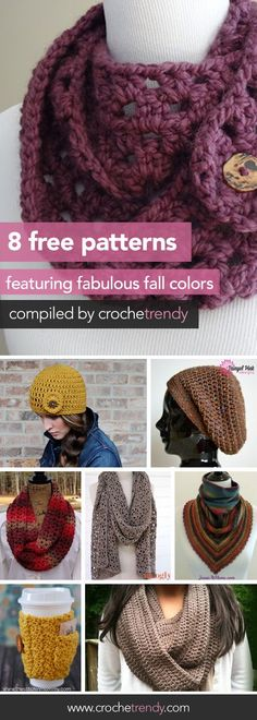 8 Free Crochet Patterns Featuring Fabulous Fall Colors | Roundup by Crochetrendy.com