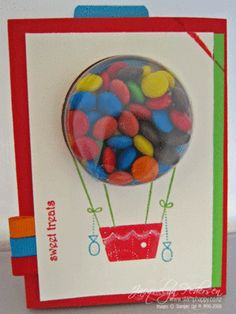 Stampin-up Treat Cups Balloon in primary colors