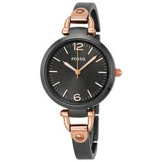 Fossil Georgia Grey Dial Smoke Grey Ion-plated Ladies Watch ES3111