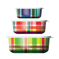Food Storage Containers in Plaid by French Bull - Spark Living - online boutique for unique home decor, gifts and accessories