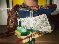 Borsa jeans pizzo creazioni artigianali boho stile Vetrina #sabinanosmokingsibijou