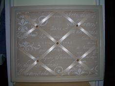 pele-mele board with frame for Meghan