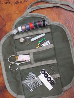 Travel Sewing Kit - Military Sewing Kit - Small Army Sewing Kit