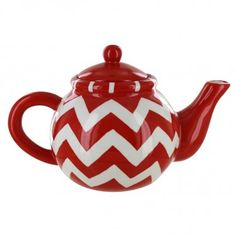 Christmas Chevron Teapot - 32oz