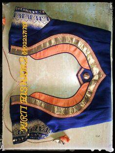 Swarnik Chahare is Patch Work Blouse Designs, Simple Blouse Designs, Stylish Blouse Design, Blouse Back Neck Designs, Fancy Blouse Designs, Bridal Blouse Designs, Salwar Neck Designs, Designer Blouse Patterns, Saree Blouse