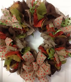Colors of Fall Burlap Wreath