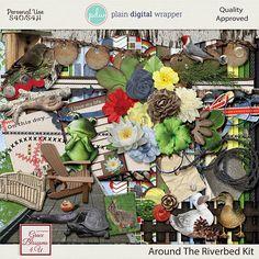 Around The Riverbed #graceblosssoms4U #digital #digitalscrapbook #scrapbookkit  #pagekit #photography #scrapbook