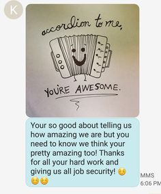 Wow, I feel pretty blessed to have a work family that is so nice and positive. Each of us appreciate what each person brings to the team. Today I got this sweet message and it totally made my day. I ❤ my work family. Well some of you guys anyway, we don't want anyone getting a big head. Ha ha 😀 jk 😍