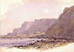 """Coast of Cornwall,"" William Trost Richards, ca. 1879, watercolor over graphite on cream laid paper, 7 3/8 x 5 5/16"", RISD Museum."