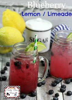 Blueberry Lemon / Limeade a refreshing drink recipe just in time for Summer http://www.adventuresofcountrydivas.com/blueberry-lemon-limeade-a-refreshing-drink/
