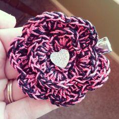 Handmade crocheted girls hair accessorie. www.facebook.com/happilyhooked82