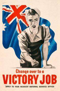 Anon  Change Over to a Victory Job propaganda poster  Nd  © Australian War Memorial