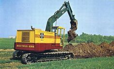 Bucyrus Erie, Hydraulic Excavator, Engin, Vintage Tractors, Heavy Truck, Chenille, Toy Trucks, Heavy Equipment, Old School