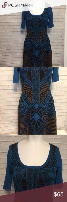 James Perse Blue & Brown Short Sweater Dress 4 EUC, No flaws. Beautiful $250 dress by James Perse. James Perse Dresses Mini