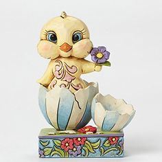 Enesco Jim Shore Heartwood Creek Easter Mini Chick in Broken Egg Shell ** Quickly view this special  product, click the image : Home Decor Collectible Figurines