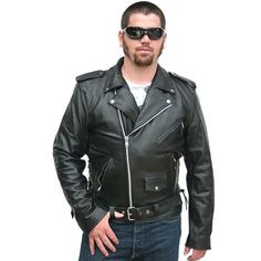 Biker Style Leather Jackets for Men Classic Leather Jacket, Men's Leather Jacket, Leather Men, Biker Leather, Leather Coats, Motorcycle Leather, Biker Style, Jacket Style, Womens Harley Davidson Boots