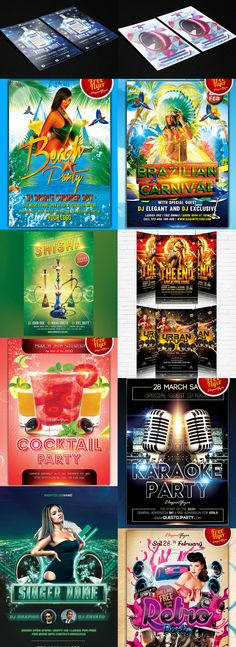 Awesome flyers Templates for awesome parties. All for free
