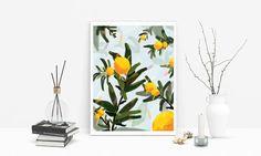 Orange Tree/ Digital Painting/ Poster/ Digital Copy/ Home