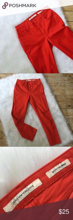Spring red skinny jeans ECU / ships in 24 hours/ smoke free pet free home/ no trades/ make me an offer / save 20% when bundling Jones New York Jeans Ankle & Cropped