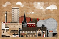 Brum Cityscape (Birmingham's Skyline) www.brumhaus.uk