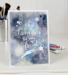 Watercolor Galaxy & Lucky Stars