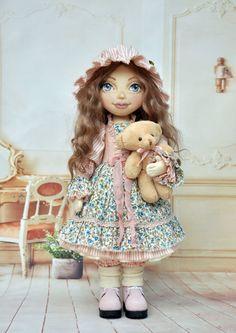 Textile doll, Handmade Doll, decorative doll,collectible dolls,  rag doll, art…