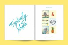 Tropically Yours by Wedge & Lever , via Behance