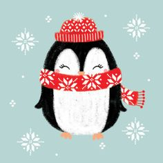 "Everything about ""Penguin Crafts"" Christmas Doodles, Christmas Drawing, Noel Christmas, Christmas Greetings, Christmas Crafts, Christmas Ornaments, Pinguin Illustration, Flowers Wallpaper, Poster Photo"