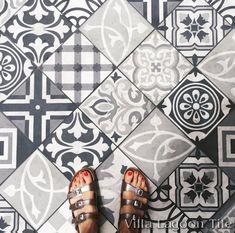 Cement tile shop encaustic cement tile patchwork random for Bathroom ideas 9x6