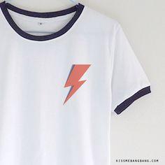 David Bowie Shirt ; Ziggy Stardust Pocket Tee ; Cute Tumblr Shirt KISSMEBANGBANG.COM