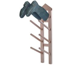 wall mounted wellington boot storage rack...stores 4 pairs of wellies