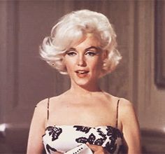 Marilyn Monroe during hair, makeup and costume tests for Something's Gotta Give, 1962.