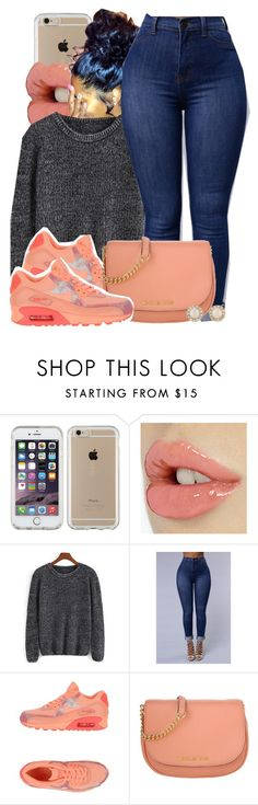 """Untitled #622"" by b-elkstone ❤ liked on Polyvore featuring Speck, NIKE, Michael Kors and Kate Spade"