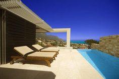 luxus villa cape town liegestühle