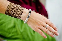 Easy Arabic Christmas Henna Designs for Cuff