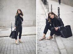 Simply Me - Alexandra wearing Steve Madden Flats, a Zara Shirt, Asos Pants, Mango Jacket, American Apparel Scarf and Anine Bing Bag.
