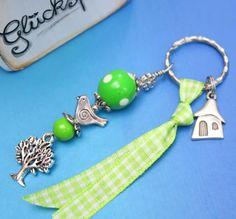 Schlüsselanhänger - GartenGlück ♥ Schlüsselring - ein Designerstück von harmony-Kerstin bei DaWanda