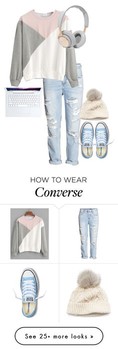 """@clairezoo"" by aysiaismej on Polyvore featuring Converse, B&O Play and SIJJL"