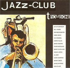 1989 Jazz-Club: Trombone [Verve 840040-1] cover painting by Alice Choné #albumcover