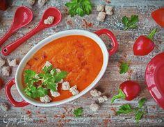 Крем-суп из запеченного перца с хрустящими ржаными отрубями  рецепт 👌 с фото пошаговый | Едим Дома кулинарные рецепты от Юлии Высоцкой