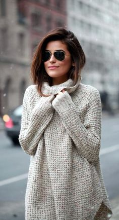 |||| HOW ABOUT COZY & WARM KNITTED SWEATER |||| 45 Cute Winter Fashion…