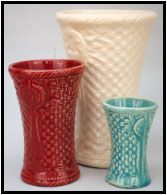 vases.  Love the colors.  I wish I had some of the blue and other colors.