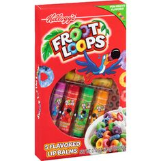Lotta Luv Beauty Kellogg's Froot Loops Flavored Lip Balms, 0.12 oz, 5 count