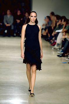 Ter et Bantine | Spring 2000 Ready-to-Wear | 80 Black ruffled halter mini dress